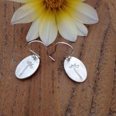 Recycled Silver 'dandelion seed' earrings