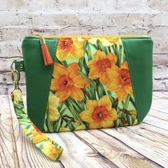 Daffodil Joy Zip Pouch/Clutch