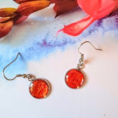 Orange Tang Sparkly Drop Earrings- Let's Party