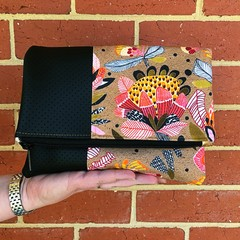 Fold Over Clutch - Protea Pop