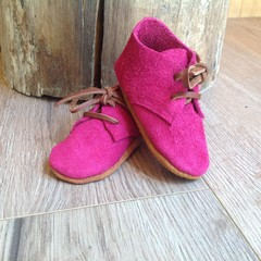 Magenta  suede soft soled baby/toddler shoes
