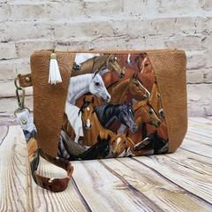 Horses  Zip Pouch/Clutch