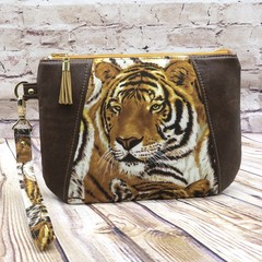 Tigers Zip Pouch/Clutch