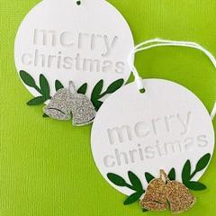 Christmas Gumnut gift tags. Xmas gum nuts, Aussie Christmas.