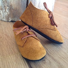 Leather soft soled shoes