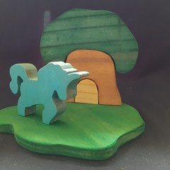 Unicorn tree house small world set