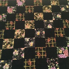 Scattered flowers on black