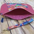 Flamingo Zip Pouch/Clutch
