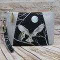 Silver Owls  Zip Pouch/Clutch