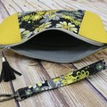 Sunshine Daisies abstract Zip Pouch/Clutch