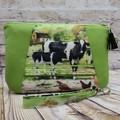 Cows Zip Pouch/Clutch