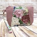 Oriental floral  Zip Pouch/Clutch