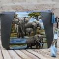 Elephants Zip Pouch/Clutch