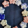 Very cute colourful star porcelain buttons for crafty mums