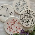 One Of A Kind Hand painted porcelain coasters