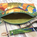 Sunset Parrots  Zip Pouch/Wristlet