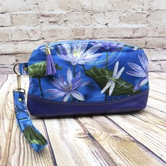Waterlilies Zip Pouch/Wristlet