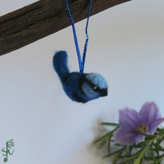Splendid Fairy-Wren - Wool Felt Christmas Decoration