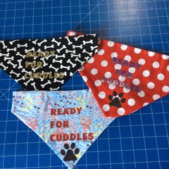 Ready for Cuddles Dog Bandana