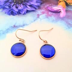 Classic Royal Blue Drop Earrings