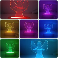 Personalised colour changing angel light