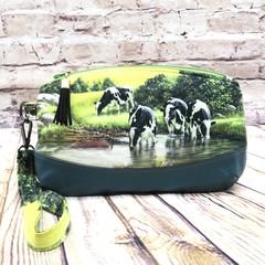 Cows Zip Pouch/Wristlet