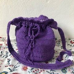 Bold Purple | Recycled Cotton |  Scallop Handbag
