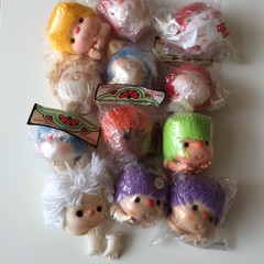 12 Medium  Doll Heads and Hands - Bundle No. 2