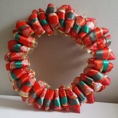 Handmade Ribbon Wreath - A Lot Like Christmas