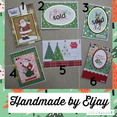 Assorted Paper-crafted Christmas Cards