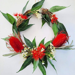 Artificial Australian Native Flower Wreath - Christmas Gift - Home Decoration