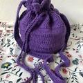 Bold Purple | Recycled Cotton |  Scallop Handbag