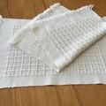 Cotton Placemats, Handwoven, Cream