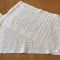 Cotton Placemats, Handwoven, Cream