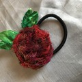 Ponytail elastic, hair tie, flower hair accessories, silk flowers