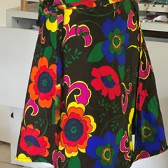 Bold and Bright Wrap skirt two styles