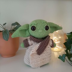 The Child - baby Yoda made from recycled cotton and Australian wool