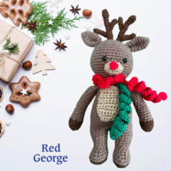 Blitzen the Red George Reindeer- from the Red George Cuddle Crew