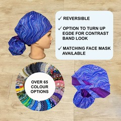 PONYTAIL Scrub cap for women Washable scrub hat Available with buttons Surgical