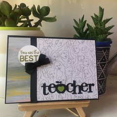 Thank You Teacher Handmade Card