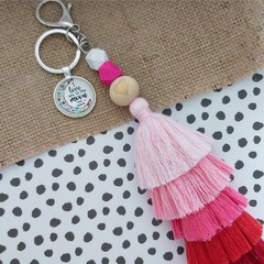 I love you to the moon and back  - Tassel keyring/bag tag