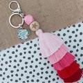 She believed she could  - Tassel keyring/bag tag