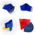 Fabric Face mask with washable filter & NOSE wire, Fabric Washable face mask