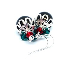 Christmas Pudding Earrings with Sterling Silver hooks