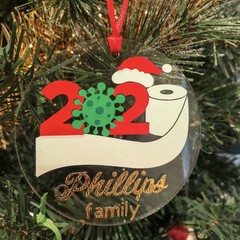 LIMITED TIME - Personalised Christmas Decorations -  varied designs - 75mm