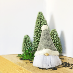 Christmas Gnome with Grey Hat - Made to Order