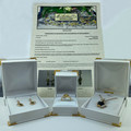 14ct Solid Yellow Gold Natural Sapphire and Diamond Earrings