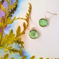 Lime Green Rose Gold Drops Finished in Resin