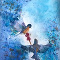 Birds in flight- original watercolour