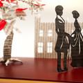Pride and Prejudice - Mr Darcy and Elizabeth book sculpture